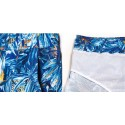 Bermuda Surfing Beach Fashion Male Print Floral Cute Blue