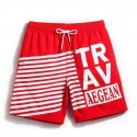 Men's Pants Striped Sport Training Red and Black Academy