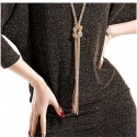 Winter Dress Women's Short Work Elegant Silk