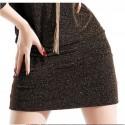 Vestido de Inverno Feminino Curto Trabalho Elegante Seda
