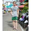 Men's Short Bermuda Floral Pattern Striped Beach Fashion