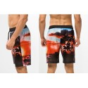 Men's Casual Summer Print Black Casual Bermuda