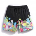 Men's Short Casual Printed Cartoon Colorful Cartoon