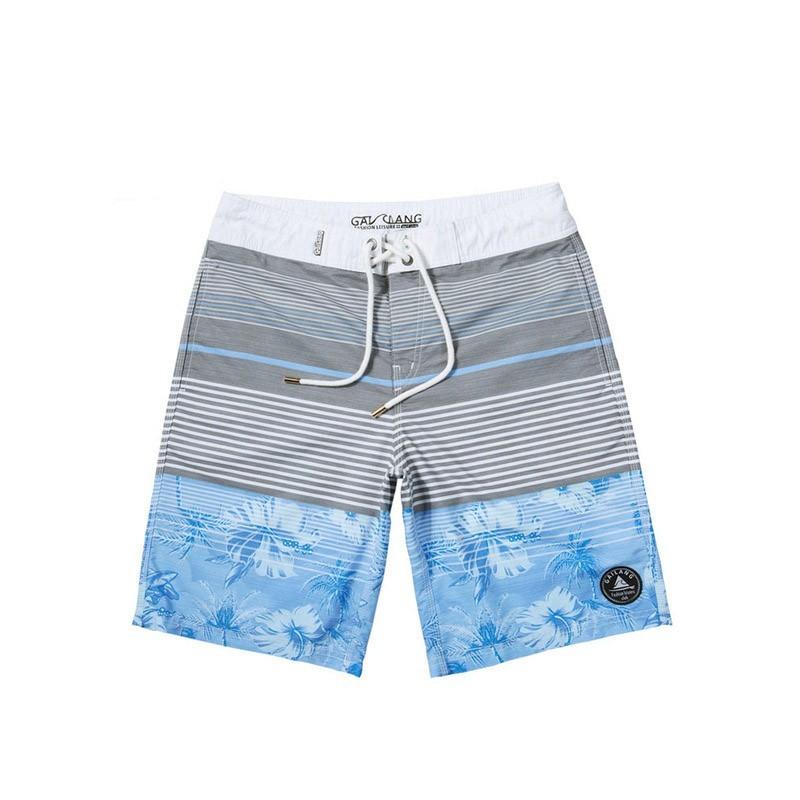 2504f9299 Short Masculino Moda Praia Listrado Play Boy Bonito Neutro