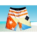 Men's Striped Short Beach Summer with Stars and Stripes