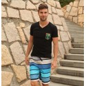 Men's Striped Bermuda Play Boy Casual Basic Hot Summer Days