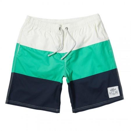 Men's Striped Blue Bermuda Shorts Degrade