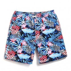 Short Chronic Male Fashion Outdoor Casual Floral Print Undersea