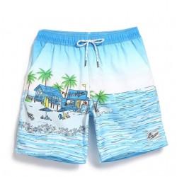 Short de Banho Masculino Estampado Desenho Infatil Mar e Praia