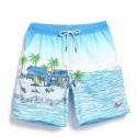 Short Bath Male Stamped Drawing infatil Sea and Beach