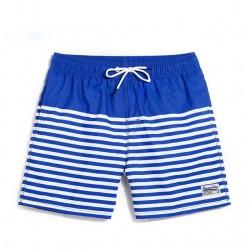 Short de Banho Masculino Listrado Moda Esporte de Verão Praia