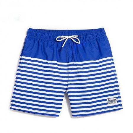 0468bebf91 Short de Banho Masculino Listrado Moda Esporte de Verão Praia