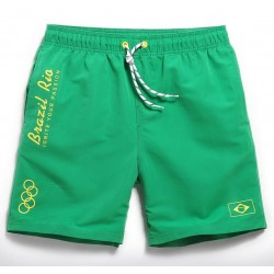 Men's Bermuda Comfortable Beach Casual Brazil Rio Olympics