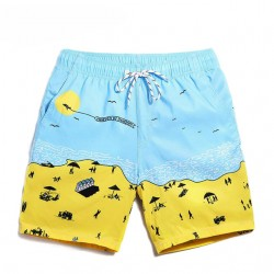Men's Beach Bermuda Drawing Fashion Summer Funny Funny