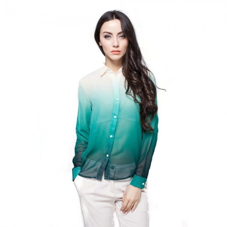 Camisa Moderna Feminina Casual de Trabalho Fina