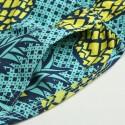 Men's Short Bermuda Patterned Pineapple Casual Summer Beach Adjustable