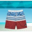 Bermuda Masculina de Treino Bandeira Americana Listrada