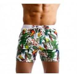 Men's Print Awning Bermuda Tropical Forest
