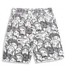 Men's Casual Short Print Pencil Drawings Casual Brand