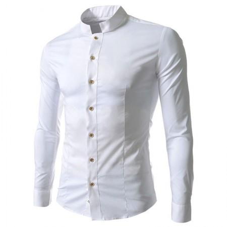 Camisa Casual Elegante Masculina Manga Longa