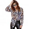 Camisa Estampa Animal Onça Leopardo Feminino Moda Festa