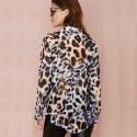 Estampa shirt Animal Leopard Ounce Female Fashion Party