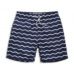 Short Short Striped Male Casual Summer Beach Comfortably