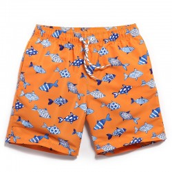 Men's Short Print Comfort Fit Casual Summer Beach