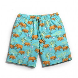 Casual Beach Short Summer Beach Comfortably Animal Print