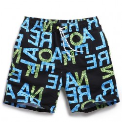 Men's Printed Bermuda Comfortable Adjustable Beach Summer Casual