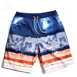 Men's Beach Printed Bermuda Casual Comfortable Summer