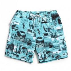 Short Masculino Estampado Confortavel Curto Ajustavel Praia Verão