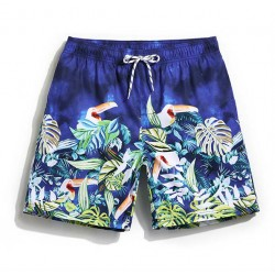 Short Animal Print Comfortable Male Adjustable Summer Beach