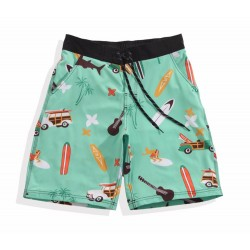Short Short Print Men Beach Summer Comfortably Casual