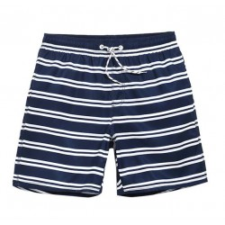 Men's Short Comfortable Beach Summer Short Casual Printed Stripes