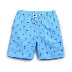 Men's Short Print Comfortable Adjustable Short Summer Beach