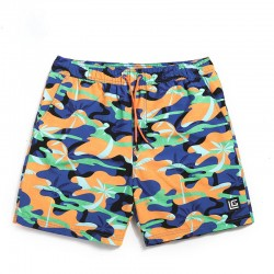 Short Camouflage Men's Comfortably Adjustable Summer Beach Casual