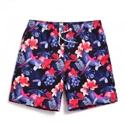 Bermuda Curta Estampada Floral Confortavel Solta Casual Praia Verão