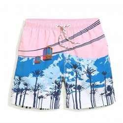 Men's Short Short Comfortablable Beach Print Casual Summer