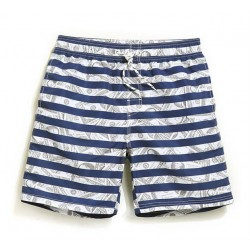 Men's Short Short Striped Comfortable Adjustable Beach Casual