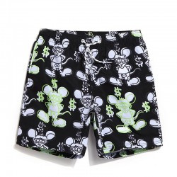 Men's Short Bermuda Comfortable Casual Print Summer Beach