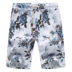 Men's Bermuda Floral Printed Comfortably Adjustable Casual