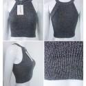 Blusa Mini Feminina Regata Tricotado Varias Cores em Algodão