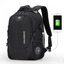 Notebook Backpack with Internal Battery for Stylish Cell Phone