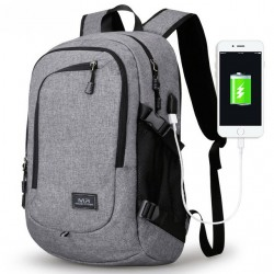 Mochila Escolar ou Trabalho com Bateria Interna Carregador de Celular