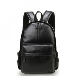 Stylish Women's School Bag in Plain Leather Fashion Retro High Quality