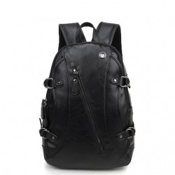 Black Star Rock Star Backpack Men's Leather Straight or Casual