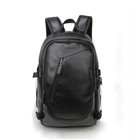 4844f4c2ab Men s Black Work Backpack Stylish Waterproof Leather