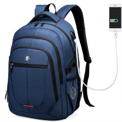 Men's Backpack USB Charger Internal Work Travel Notebook