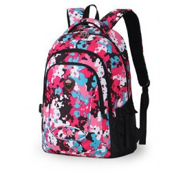 Women's School Backpack Colorful Floral Print